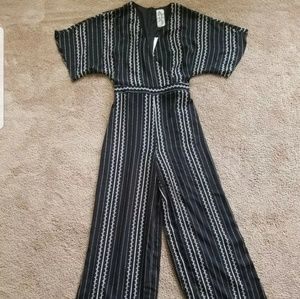 Black and white Striped jumpsuit by Sadie and sage